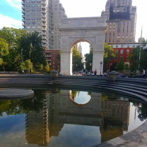 Early Morning Reflections Washington Square Park 7 A.M.