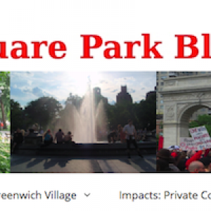 A Note From Washington Square Park Blog Editor