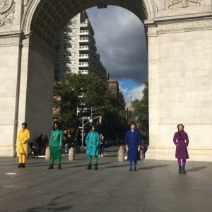 Fall Weekend Washington Square Included Performance Art by the Arch Celebrating Pride