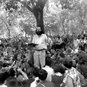 Allen Ginsberg in Washington Square Park. 1966