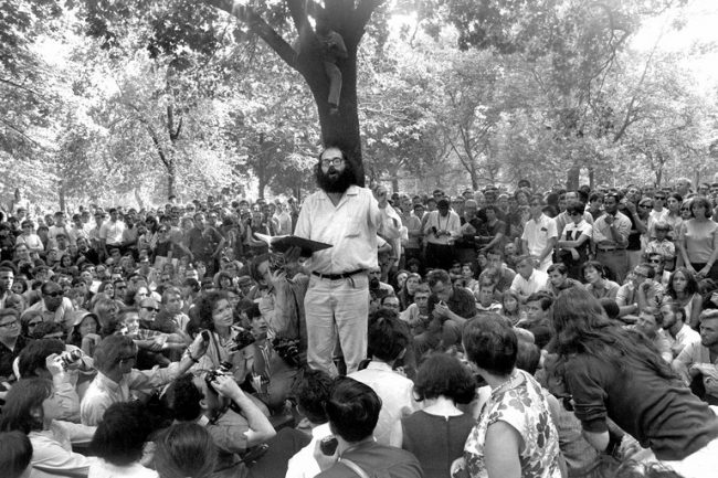 Allen Ginsberg Washington Square Park 1966