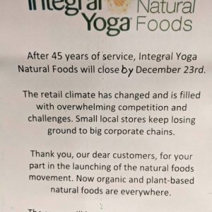 Integral Yoga Natural Foods Closing After 45 Years | West 13th Street Won't be the Same