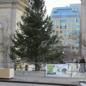 """Recycle"" Your Christmas Tree This Weekend at Washington Sq Park & Parks City-Wide"