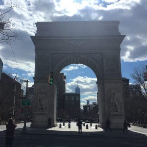 A Day in March at the Washington Square Arch