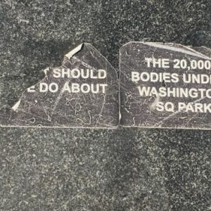 Public Hearing Set: What to do with the bodies? Followup on NYC Plans to Rebury Human Remains Unearthed in Washington Square Park