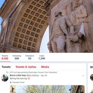 On Twitter: NYU Quit Appropriating Washington Square Park