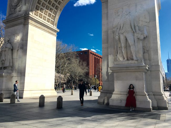 washington square park by the arch greenwich village