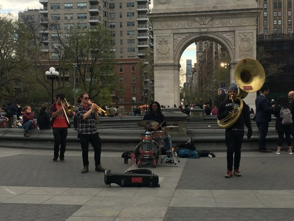 Music Band Washington Square Park Greenwich Village