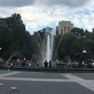 Fountain Plaza Washington Square Park Late Summer 2019