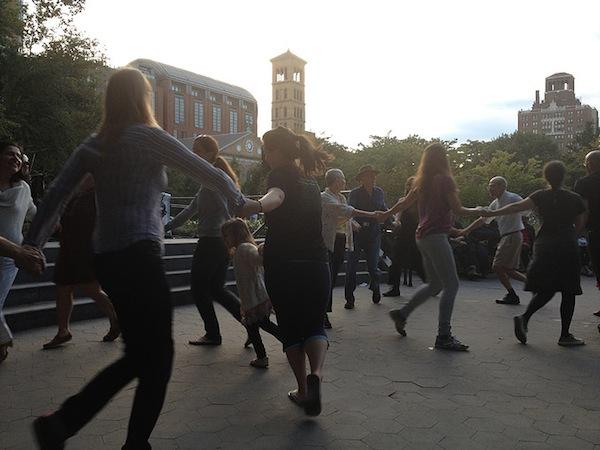 square dance washington square park folk festival