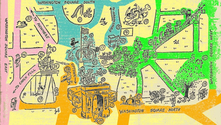 Village Voice Guide Map Washington Square 1962