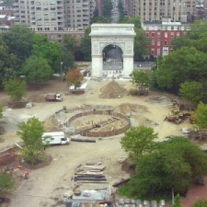 "Flashback: Contractor Confirms Washington Square Fountain is not ""Aligned"" with Park's Arch After All #FBF"