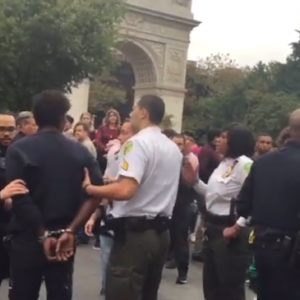An Artist Was Aggressively Tackled and Arrested at Washington Square Park. His Offense: Displaying Art on the Ground