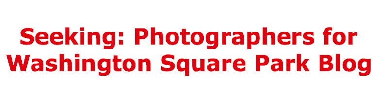 Photographers Washington Square Park Sought