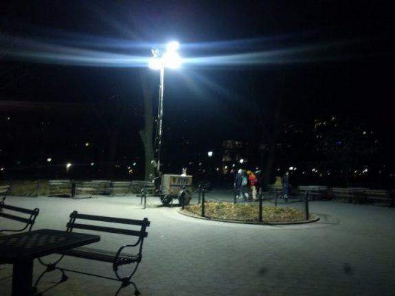 NYPD lights Washington Square Park SouthEast