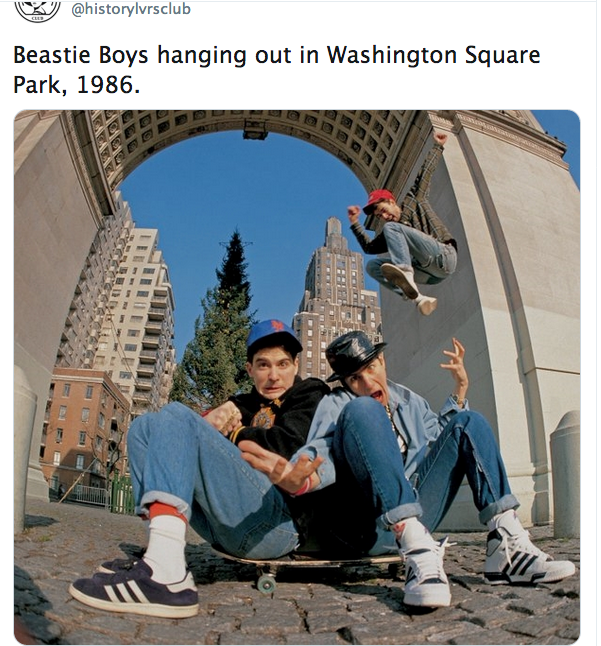 Beastie Boys, Washington Square Park, Arch, 1986