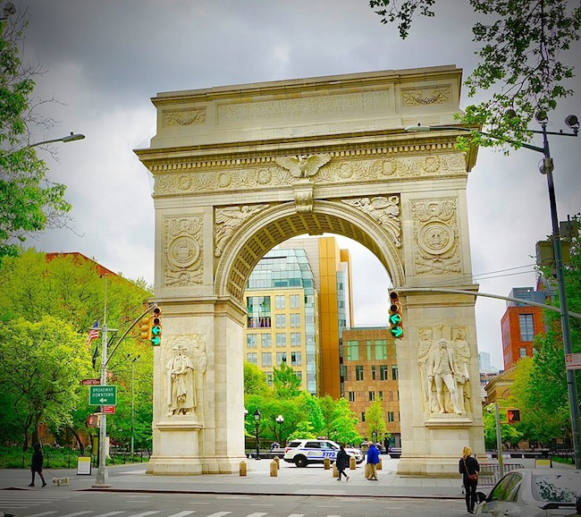 Washington Square Park During Coronavirus Arch NYC