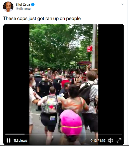 Off Washington Square Park, NYPD attack Queer Liberation March protesters 2020 Stonewall