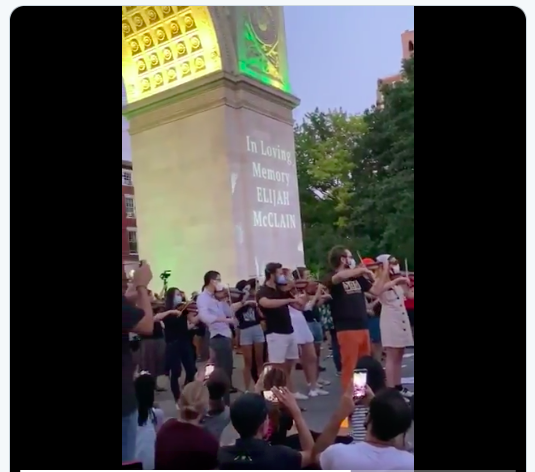 Elijah McClain vigil Washington Square Park 2020